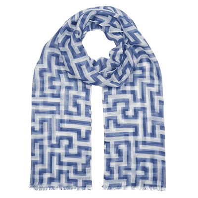 Picture of Anni Albers indigo Meander scarf