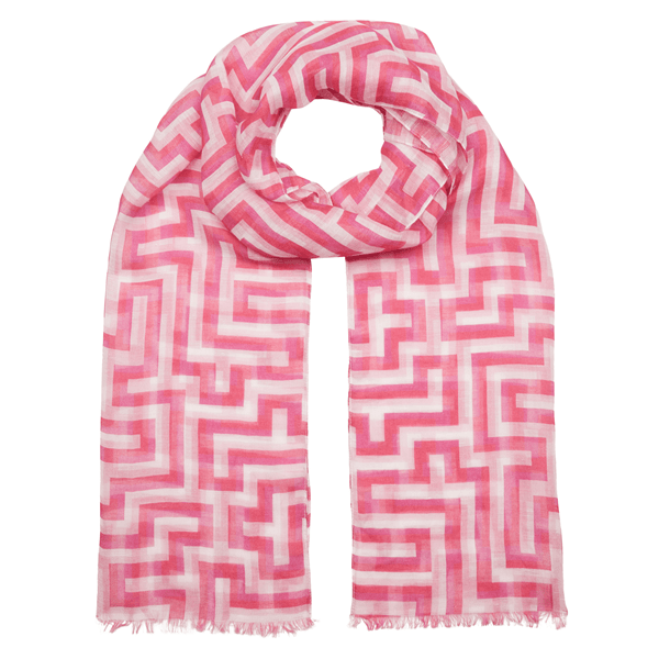 Picture of Anni Albers pink Meander scarf