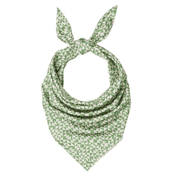 Picture of Anni Albers green silk scarf