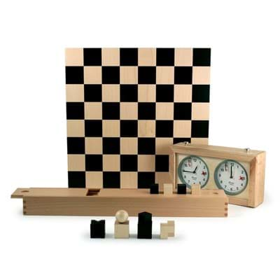 Picture of Bauhaus Chess by Josef Hartwig + Chess Clock