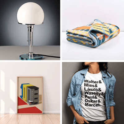 Picture of Wagenfeld Lamp + Gunta Blanket + Shirt + Poster