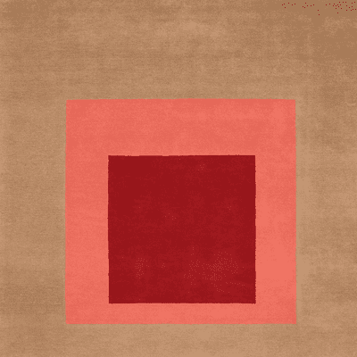 Picture of  Josef Albers Bauhaus Rug Brown & Red