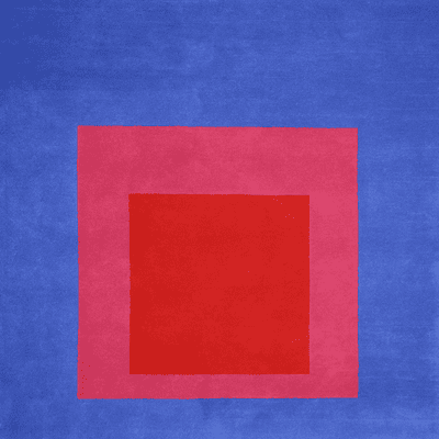 Picture of  Josef Albers Bauhaus Rug Blue & Red