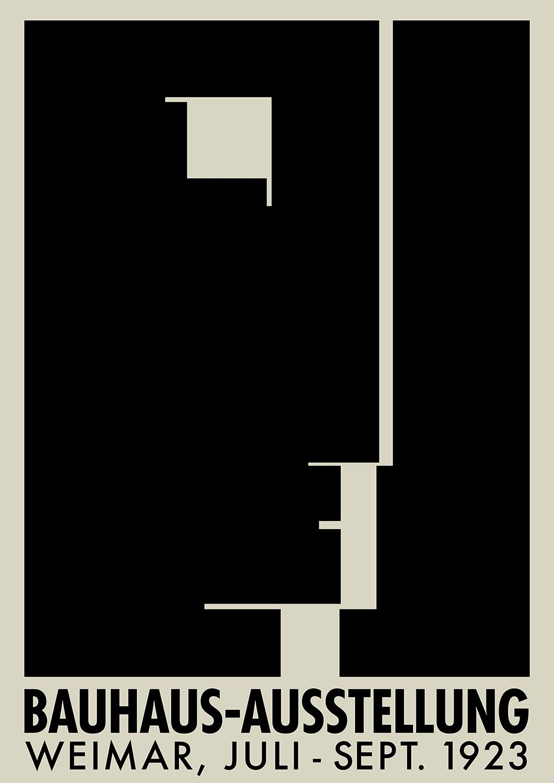 Bauhaus Exhibition print Walter gropius Bauhaus art exhibition Herbert Bayer poster Bauhaus Print Weimar 1923 Bauhaus poster