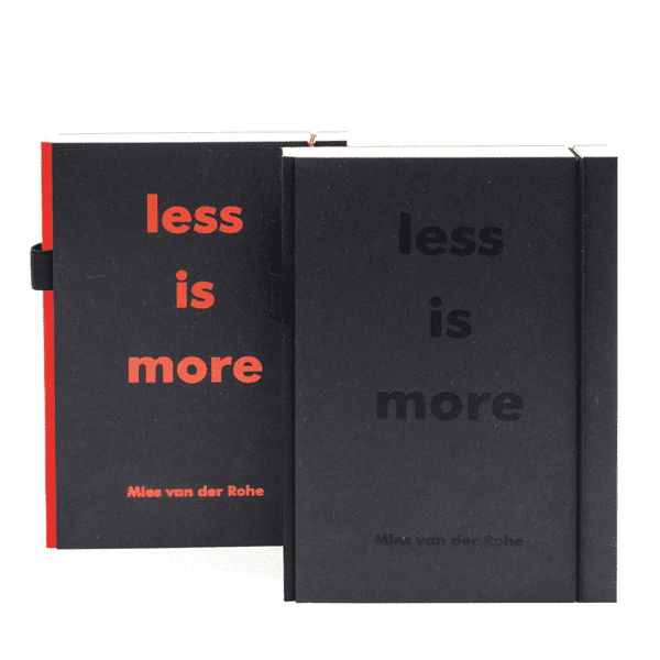 Picture of Notebook Less is more