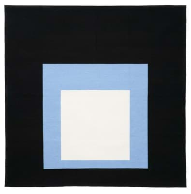 Picture of Josef Albers Bauhaus Rug Black Setting