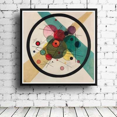 Picture of Wassily Kandinsky Circles in a Circle 1923