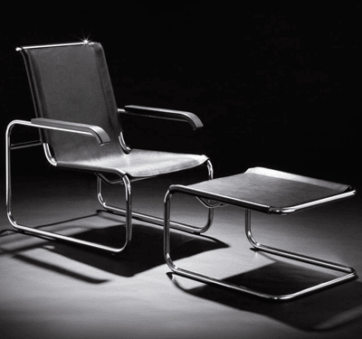 Picture of S 35 L Armchair + S 35 LH Ottoman Marcel Breuer